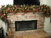 Thumbnail image for Fireplace Mantel: Christmas Decorations Ideas – Use of fruit stems